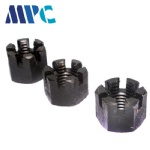 Blackened slotted nut Grade 8 high strength slotted nut Hexagonal slotted nut supports non-standard customized